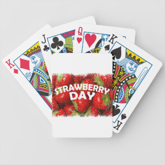 Twenty-seventh February - Strawberry Day Bicycle Playing Cards