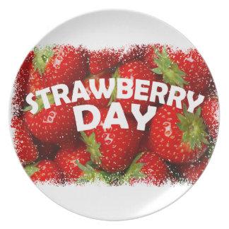 Twenty-seventh February - Strawberry Day Dinner Plate