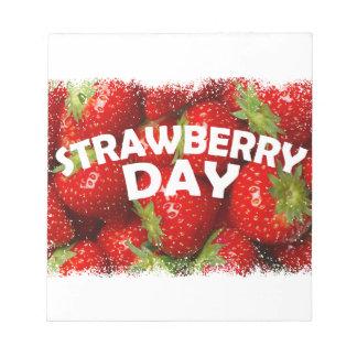 Twenty-seventh February - Strawberry Day Notepad