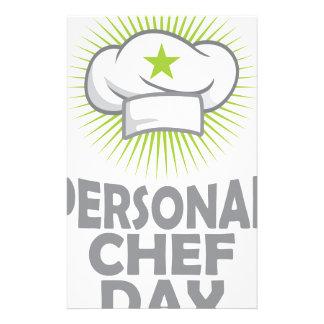 Twenty-sixth February - Personal Chef Day Stationery