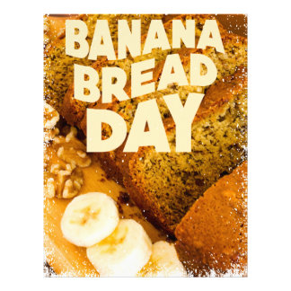 Twenty-third February - Banana Bread Day Letterhead