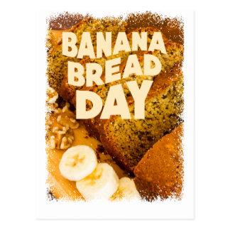 Twenty-third February - Banana Bread Day Postcard