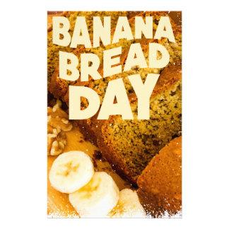 Twenty-third February - Banana Bread Day Stationery