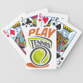Twenty-third February - Play Tennis Day Bicycle Playing Cards