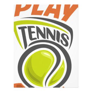 Twenty-third February - Play Tennis Day Letterhead