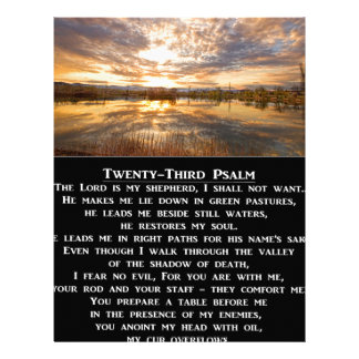 Twenty-Third Psalm Prayer Custom Letterhead