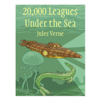 Twenty Thousand Leagues Under the Sea-Jules Verne Postcard