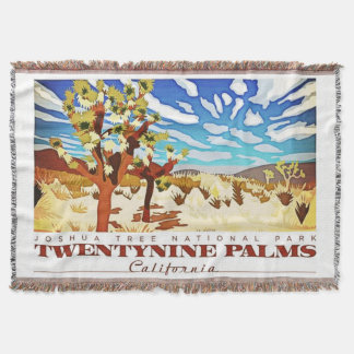 Twentynine Palms Califorina Throw Blanket