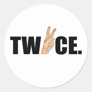 Twice Round Sticker
