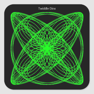 """Twiddle #52 - 1.5"""" Square Stickers - 20 per sheet"""