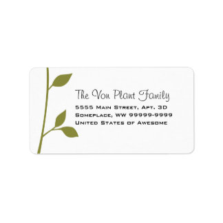 Twig and Leaf Address Label
