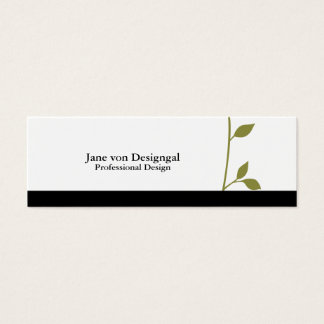 Twig and Leaf Mini Business Card