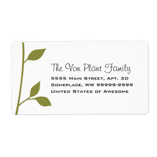 Twig and Leaf Shipping Label