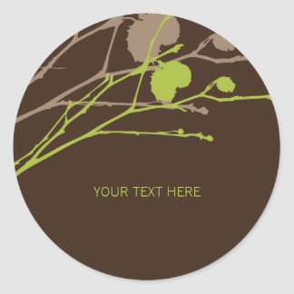TWIG colour: Fig & Deep choc 2 Classic Round Sticker