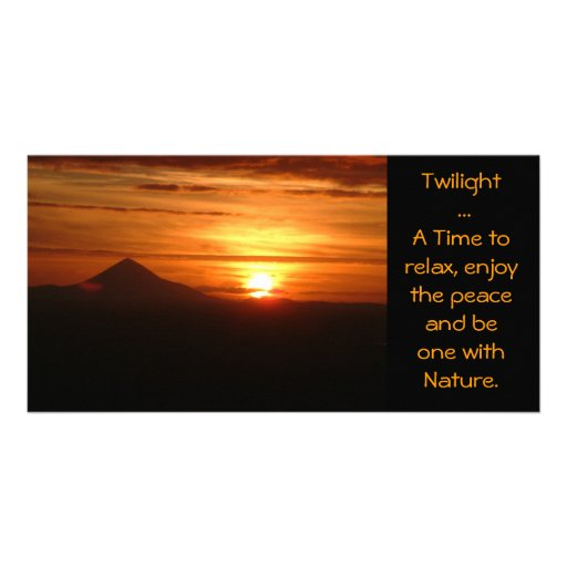 Twilight ... A Time to relax card Photo Card Template