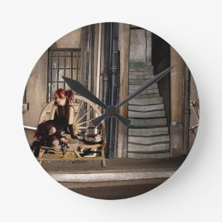 TWILIGHT ALLEY ROUND CLOCK