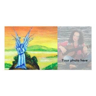 TWILIGHT ANGEL PHOTO GREETING CARD