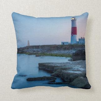 Twilight at the Portland Bill Lighthouse Throw Pillow