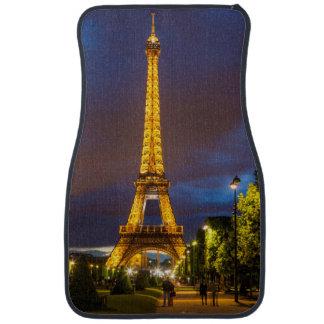 Twilight below the Eiffel Tower Car Mat
