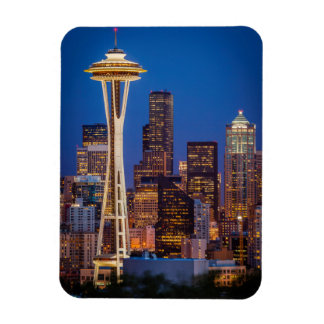 Twilight Blankets The Space Needle And Downtown 2 Magnet