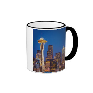 Twilight Blankets The Space Needle And Downtown 2 Ringer Coffee Mug
