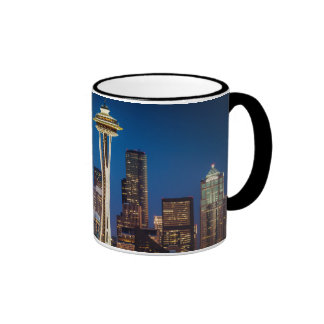 Twilight Blankets The Space Needle And Downtown Ringer Coffee Mug