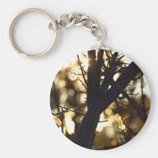 Twilight branches basic round button keychain