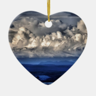 Twilight Ceramic Heart Ornament