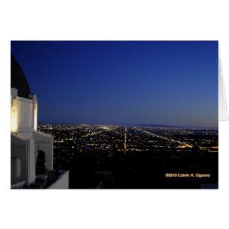 Twilight City Lights Observatory Card