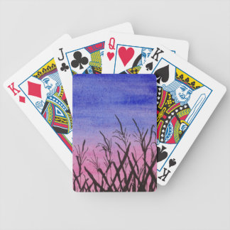 Twilight Corn Field Bicycle Playing Cards