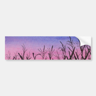 Twilight Corn Field Bumper Sticker