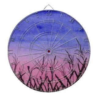 Twilight Corn Field Dartboard