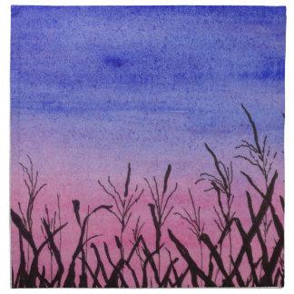 Twilight Corn Field Napkin