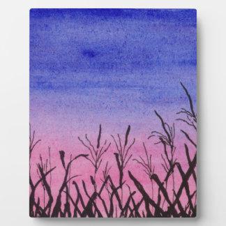 Twilight Corn Field Plaque