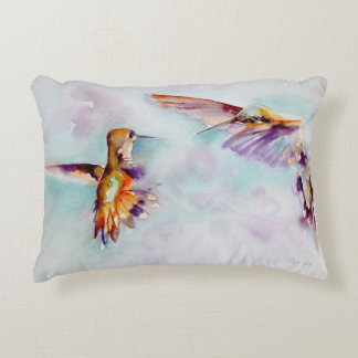 Twilight Dancers Hummingbird Print Accent Pillow