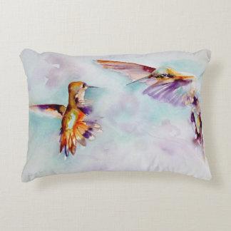 Twilight Dancers Hummingbird Print Accent Pillow