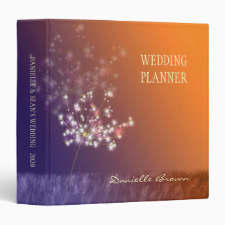 Twilight Dandelion Autumn Wedding Planner Binders