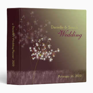Twilight Dandelions Wedding Planner Vinyl Binders