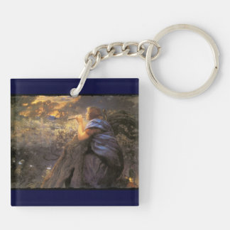 Twilight Faeries Dancing Double-Sided Square Acrylic Keychain