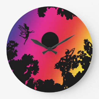 Twilight Faeries Large Clock