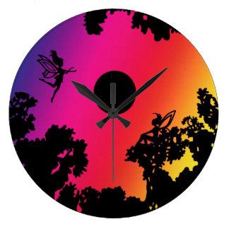 Twilight Faeries Wall Clocks
