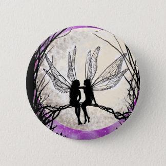 Twilight Fairy Art Pin Badge Fairy Silhouette