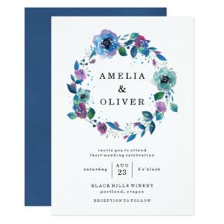 Twilight Floral Wedding Invitations