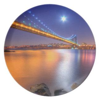Twilight, George Washington BridgePalisades, NJ. Plate