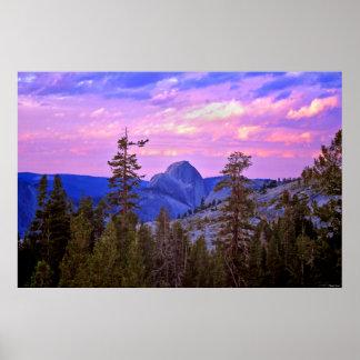 Twilight - Half Dome - Yosemite National Park Poster