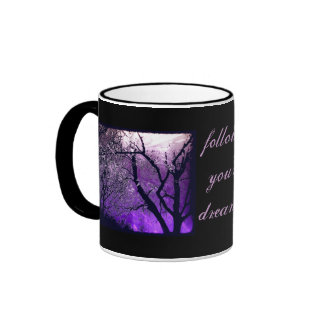Twilight haze, follow your dreams english tea mug