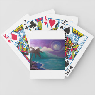 Twilight in Paradise Bicycle Playing Cards