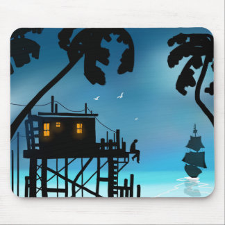 """""""Twilight in the Tropics"""" Mouse Pad"""
