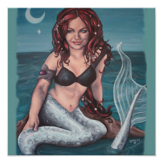 twilight mermaid artwork print