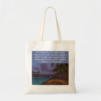 Twilight Mysteries Poetry Budget Tote Bag